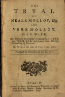 Pdf The Tryal of Neale Molloy, Esq., and Vere Molloy, His Wife