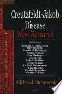 Creutzfeldt Jakob Disease Book
