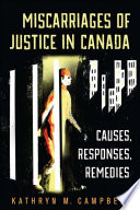 Miscarriages of Justice in Canada Book