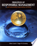 Principles Of Responsible Management Global Sustainability Responsibility And Ethics