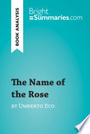 The Name of the Rose by Umberto Eco  Book Analysis  Book