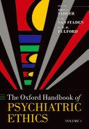 Oxford Handbook of Psychiatric Ethics