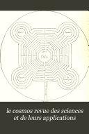 le cosmos revue des sciences et de leurs applications