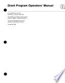 Grant Program Operators  Manual Book PDF