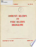 Community Relations and Public Relations Bibliography