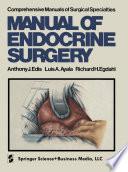 Manual Of Endocrine Surgery Book PDF
