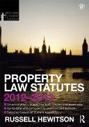 Property Law Statutes 2012 2013