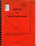 Management Audit of the Orange County Probation Department