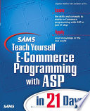 Sams Teach Yourself E Commerce Programming With Asp In 21 Days