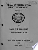 Final Environmental Impact Statement for the Ashley National Forest Land and Resource Management Plan