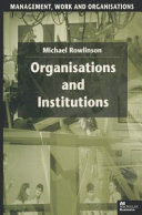 Organisations and Institutions