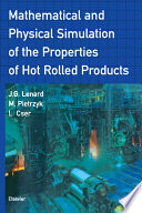 Mathematical and Physical Simulation of the Properties of Hot Rolled Products Pdf/ePub eBook