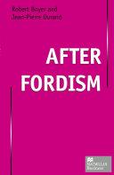 After Fordism
