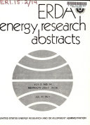 ERDA energy research abstracts