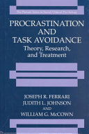 Pdf Procrastination and Task Avoidance