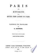 Paris and Environs with Routes from London to Paris Book