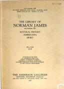 The Library of Norman James  Baltimore  Md