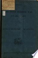 History of the Third Burmese War  1885 1891