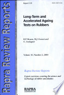 Long Term and Accelerated Ageing Tests on Rubbers Book