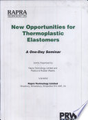 New Opportunities For Thermoplastic Elastomers 1996