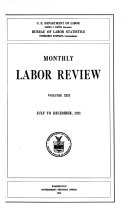 Monthly Labor Review July To December 1921