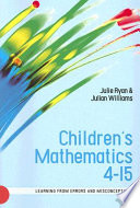 Children'S Mathematics 4-15: Learning From Errors And Misconceptions