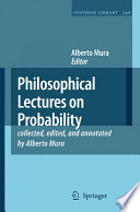 Philosophical Lectures on Probability Book