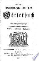 Neues deutsch-italiänisches Wörterbuch