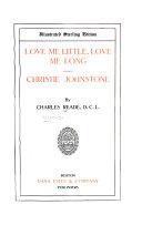 Love me little  love me long  Christie Johnstone