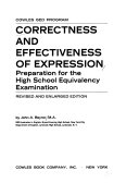 Correctness and effectiveness of expression