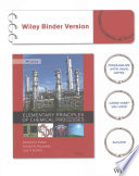 Elementary Principles of Chemical Processes, 4th Edition Binder Ready Version with WileyPlus Card Set
