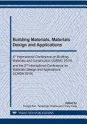 Building Materials, Materials Design and Applications Pdf/ePub eBook