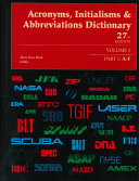 Acronyms  Initials and Abbreviations Part 1 A F