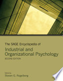 """""""The SAGE Encyclopedia of Industrial and Organizational Psychology"""" by Steven G. Rogelberg"""