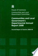 Communities and Local Government's departmental annual report 2008