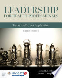 Cover of Leadership for Health Professionals
