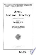 Army List and Directory