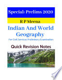 Indian And World Geography : Current Affairs Yearbook 2020