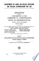Departments of Labor  and Health  Education  and Welfare Appropriations for 1967