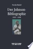 Uwe Johnson-Bibliographie 1959-1998
