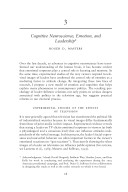 Cognitive Neuroscience  Emotion  and Leadership