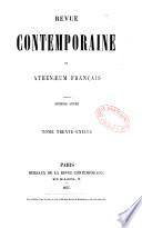 Revue contemporaine et Athenaeum français