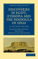 Discoveries in Egypt, Ethiopia and the Peninsula of Sinai
