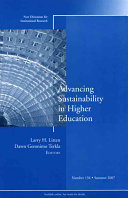 Advancing Sustainability in Higher Education