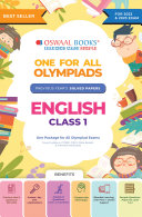 Oswaal One for All Olympiad Previous Years Solved Papers, Class-1 English Book (For 2022 Exam)
