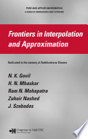 Frontiers in Interpolation and Approximation Book
