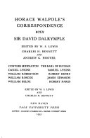 The Yale Edition Of Horace Walpole S Correspondence