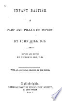 Infant Baptism a Part and Pillar of Popery