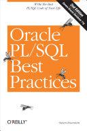 Oracle PL SQL Best Practices