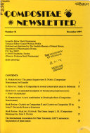 Compositae Newsletter Book